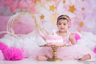 Girl Cake Smash Photoshoot Shipra Amit Chhabra Delhi