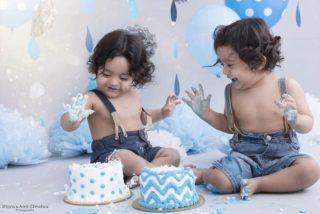 Sibling Cake Smash Photoshoot Shipra Amit Chhabra